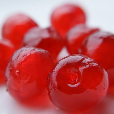 RED GLACE CHERRIES